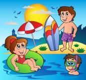 Het themabeeld 1 van de zomer vector illustratie