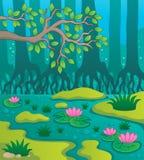 Het themabeeld 2 van het moeras vector illustratie