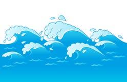 Het themabeeld 3 van golven Royalty-vrije Stock Afbeeldingen
