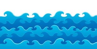 Het themabeeld 5 van golven Royalty-vrije Stock Afbeelding