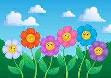 Het themabeeld 6 van de bloem Stock Foto