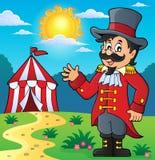 Het themabeeld 3 van de circuscircusdirecteur Stock Afbeeldingen