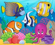 Het themabeeld 7 van de koraalfauna Stock Afbeelding