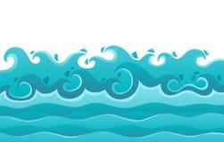 Het themabeeld van golven   Stock Afbeelding