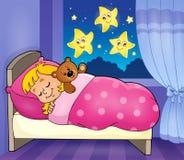 Het themabeeld 2 van het slaapkind stock illustratie
