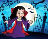 Het themabeeld 8 van het vampiermeisje stock illustratie