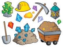 Het themainzameling 1 van de mijnbouw Royalty-vrije Stock Afbeeldingen