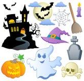 Het themainzameling 1 van Halloween royalty-vrije illustratie