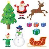 Het themareeks van Kerstmis. Royalty-vrije Stock Foto