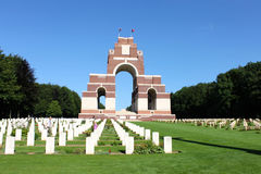 Het Thiepval-Gedenkteken aan het Missen van de Somme Stock Afbeeldingen