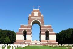 Het Thiepval-Gedenkteken aan het Missen van de Somme Stock Fotografie