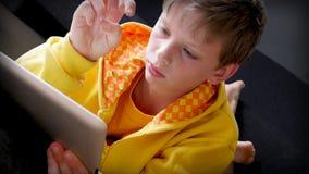 Het thuiswerk van tabletpc Stock Foto