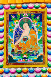 Het Tibetaanse beeld van thangkasboedha Stock Foto