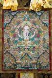 Het Tibetaanse beeld van thangkasboedha Stock Afbeelding
