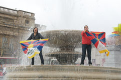 Het Tibetan Protesteren van Vrouwen Royalty-vrije Stock Fotografie
