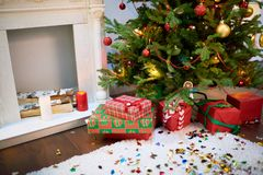 Het is tijd voor langverwachte Kerstmis royalty-vrije stock afbeelding
