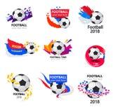 Het is tijd voor voetbal stock afbeelding