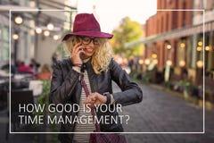 Het tijdbeheer is de sleutel aan uw succes royalty-vrije stock fotografie