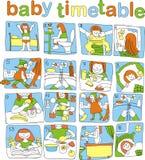 Het tijdschema van de baby Stock Afbeeldingen