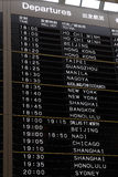 Het tijdschema van de luchthaven Royalty-vrije Stock Foto's