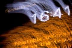 Het tijdschema van de luchthaven en digitale klok Royalty-vrije Stock Foto