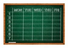 Het tijdschema van de school stock afbeeldingen