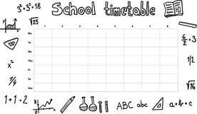 Het tijdschema van de school royalty-vrije illustratie