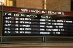 Het tijdschema van de trein royalty-vrije stock fotografie