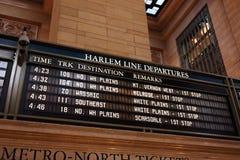 Het tijdschema van de trein stock foto's