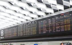 Het tijdschemanarita van het vluchtprogramma luchthaven Tokyo Japan Royalty-vrije Stock Afbeeldingen