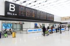 Het tijdschemanarita van het vluchtprogramma luchthaven Tokyo Japan Stock Fotografie