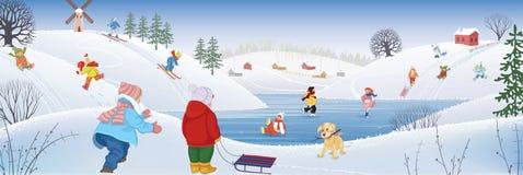 Het tijdverdrijf van de winter stock illustratie