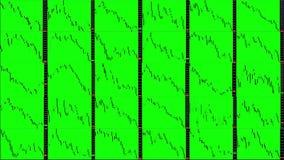 Het Timelapsescherm Snelle Tijd Markt technische analyse Handelwaaier stock video
