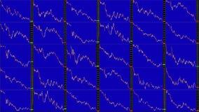 Het Timelapsescherm Snelle Tijd Markt technische analyse Handelwaaier stock videobeelden