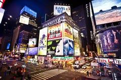 Het Times Square is een iconicplace van de Stad van New York Royalty-vrije Stock Foto's