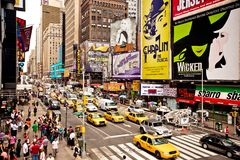 Het Times Square is een iconicplace van de Stad van New York Stock Foto