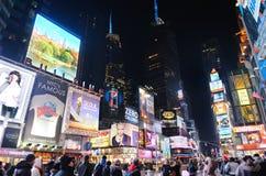 Het Times Square van de Stad van New York bij nacht Stock Afbeelding