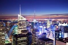 Het Times Square van Manhattan van de Stad van New York Stock Fotografie