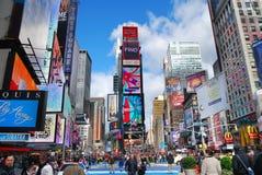 Het Times Square van Manhattan van de Stad van New York Stock Afbeeldingen