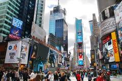 Het Times Square van Manhattan van de Stad van New York Royalty-vrije Stock Afbeeldingen