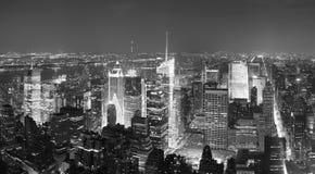 Het Times Square van Manhattan van de Stad van New York panoram Stock Foto