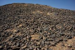 Het timmerwerk in de krater van Ramon Royalty-vrije Stock Fotografie