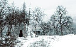 Het tipi van de winter Royalty-vrije Stock Foto's