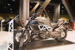 Het Titanium 2015 motorfiets van Ducatidiavel Stock Fotografie