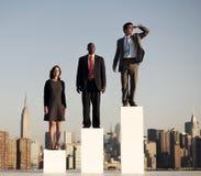 Het toekomstige Concept Strategie van de Bedrijfs Planningssamenwerking Stock Foto's