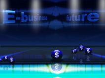 Het toekomstige concept van het e-business Royalty-vrije Stock Foto's