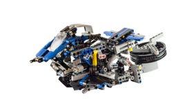 Het toekomstige Hoverbike-concept leidde tot het gebruiken van technische legostukken royalty-vrije stock foto