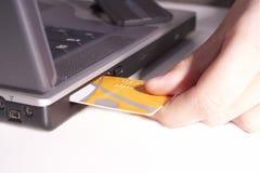Het toekomstige online winkelen Stock Fotografie