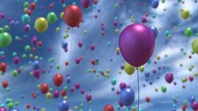 Het toenemen ballons in lucht het 3D teruggeven Stock Fotografie
