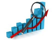 Het toenemen grafiek Stock Fotografie